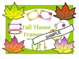 Fall Themed Frames and Labels