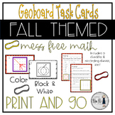 Fall Themed Geoboard Task Cards