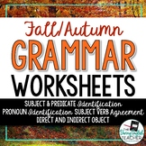 Fall Grammar Worksheets