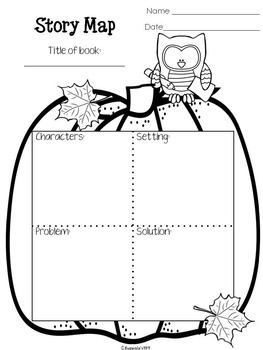 Reading Graphic Organizers for Reading Comprehension: Fall Themed