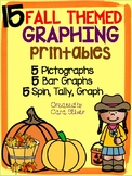Fall Themed Graphing Printables: 1st Grade