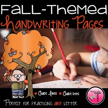 Fall-Themed Handwriting Practice Sheets for Any Letter