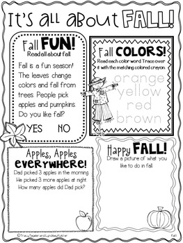 Fall Themed Holiday Morning Work for First Graders