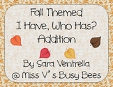 Fall Themed I Have, Who Has? Addition Game