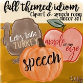 Fall Themed Idiom Clipart & Speech Room Decor Set