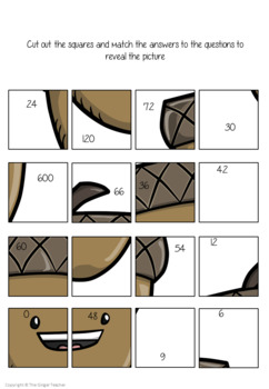 Fall Themed Independent Multiplication Revision Sheets 6x
