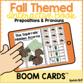 Fall Themed Interactive Book for Prepositions & Pronouns |