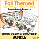 Fall Themed Interactive Book for Prepositions & Pronouns B