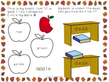 Fall-Themed Interactive Sight Word Activity Book