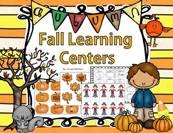 Fall Themed Kindergarten Common Core Literacy and Math Centers