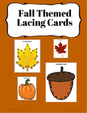 Fall Themed Lacing Cards