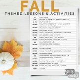 Fall Themed Lessons & Activities for Older Students