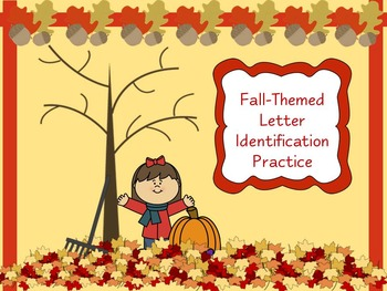 Fall-Themed Letter Identification Practice