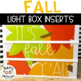 Fall Themed Light Box Inserts- Heidi Swapp or Leisure Arts