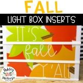 Fall Themed Light Box Inserts- Heidi Swapp or Leisure Arts