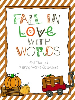 Fall Themed Making Words