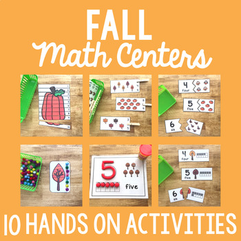 Fall Math Center Activities