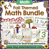Fall Themed Math Activities for K-1