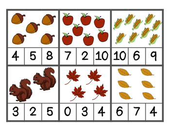 Fall Themed Math Centers Bundle