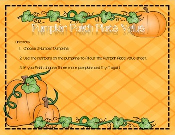 Fall Themed Math Centers and Activities