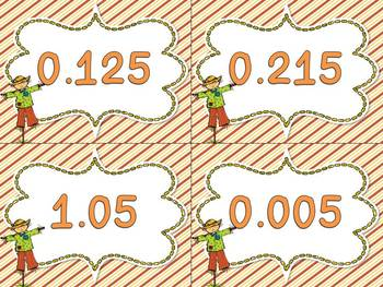 Fall/Thanksgiving Themed Math Centers for Fifth Grade {CCSS Aligned}