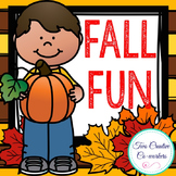 Math / Literacy / Incentives & more { Fall } Themed Packet