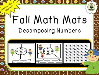 Fall Themed Math Mats - Decomposing Numbers