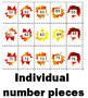 Fall Themed Math Number Strips and Cards 1-100 - BUNDLE