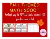 Fall Themed Math Scoot