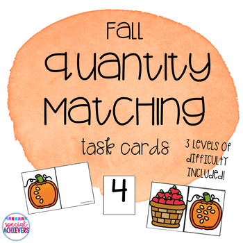 Fall Themed Math Skills- Quantity Matching