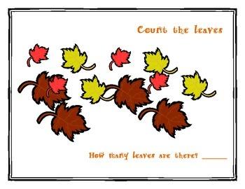 Fall Themed Math Work