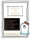 Fall Themed Math Worksheets