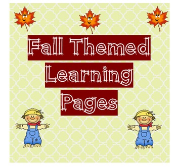 Fall Themed Math and ELA