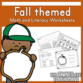 Fall Themed Math and Literacy Worksheets