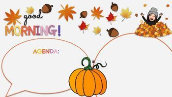Fall Themed Morning Slide