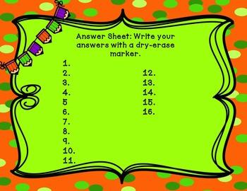Fall Themed Multi-Step Word Problem Math Center