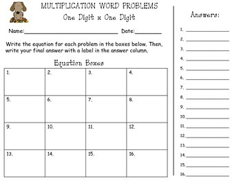 Fall Themed Multiplication (1 digit x 1 digit) Word Problem Task Cards *50% off*