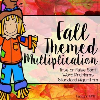 Fall Themed Multiplication