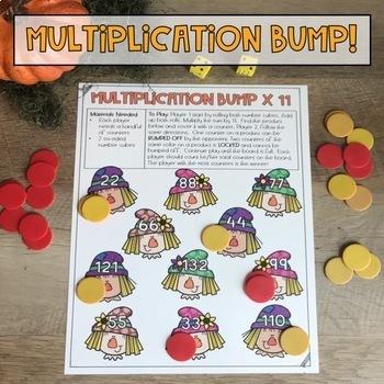 Fall Math Center Multiplication Games