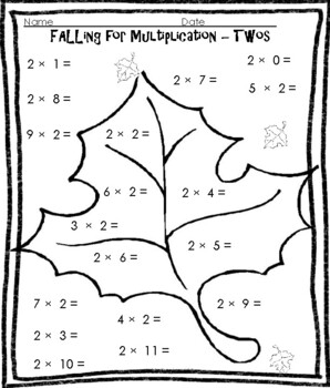 Fall Themed Multiplication Practice