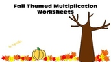 Fall Themed Multiplication Practice Worksheets