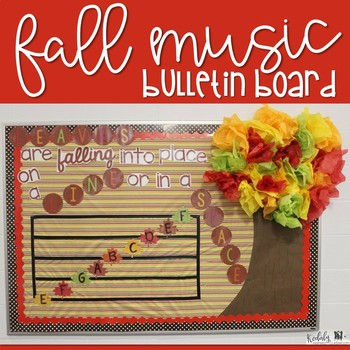 Fall Themed Music Bulletin Board {Treble Lines and Spaces}