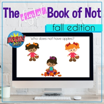 Fall Themed Negation Boom Cards for Speech Therapy