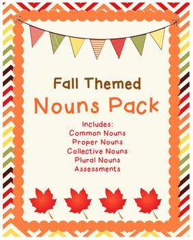 Fall Themed Nouns Packet