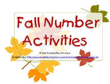 Fall Themed Number Activities