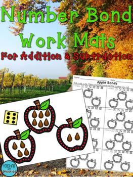 Fall Themed Number Bond Work Mats