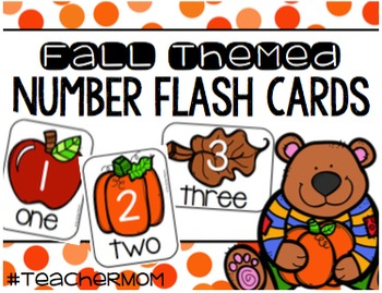 Fall Themed Number Cards
