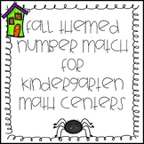 Fall Themed Number Match for Kindergarten