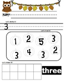 Fall Themed Number Sense  0-10