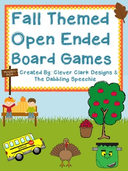 Back To School & Fall Themed Open Ended Board Games